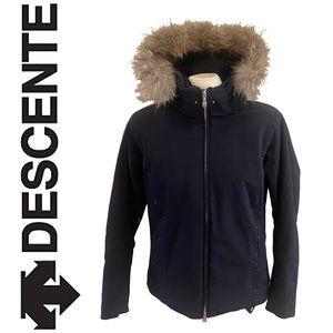 DESCENTE ski jacket with fur trim